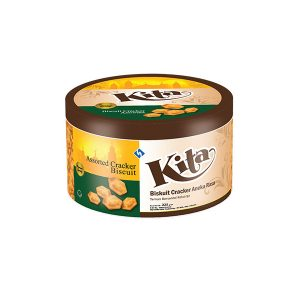 KITA Biscuit Crackers Tin Hexagon